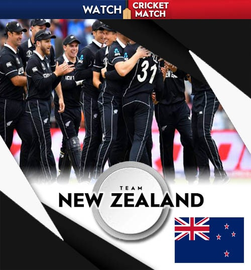New Zealand cricket team poster png banner