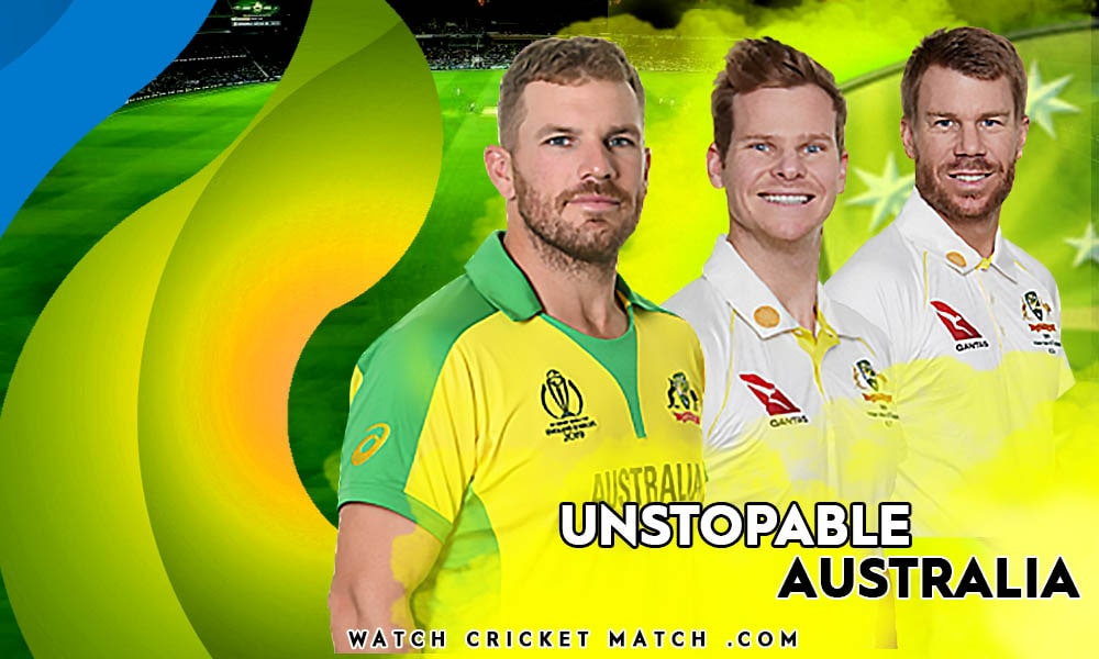AUSTRALIA WINS THE FIRST ODI SMITH AARON FINCH AND WARNER, Live Cricket Streaming