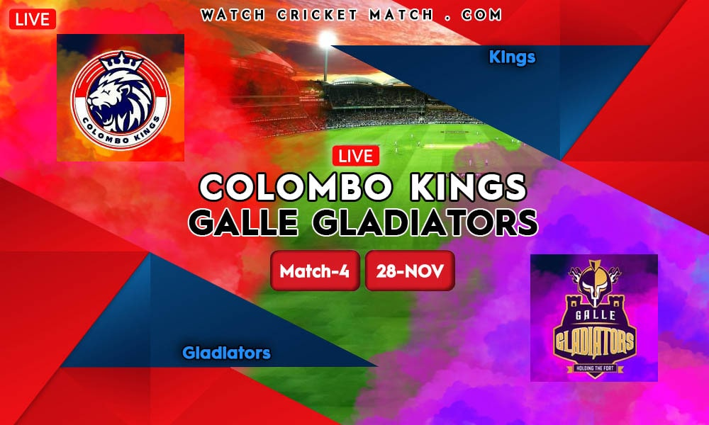 Galle Gladiators vs Colombo Kings GG vs CK LPL 2020 Match-4