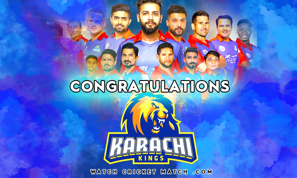 Karachi Kings Won PSL 5 Champions, Live Cricket Streaming
