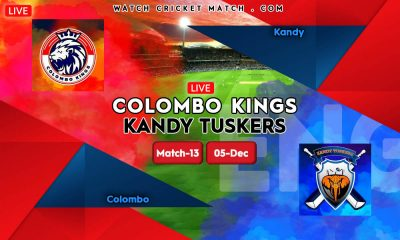 Colombo Kings vs Kandy Tuskers LPL 2020 Match-13