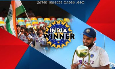 INDIA Won The Border Gavasker Series 2021 Rishabh Pant