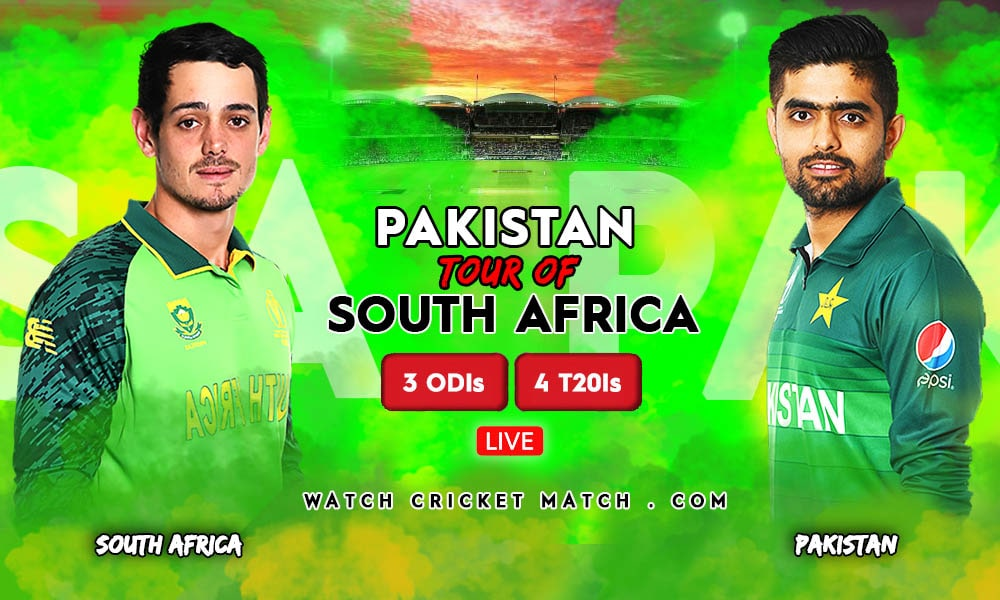 PAK Vs SA ODI And T20 Series Pakistan Tour Of South Africa 2021, Live Cricket Streaming